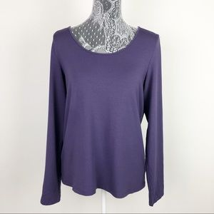 Eileen Fisher Purple Long Sleeved Top